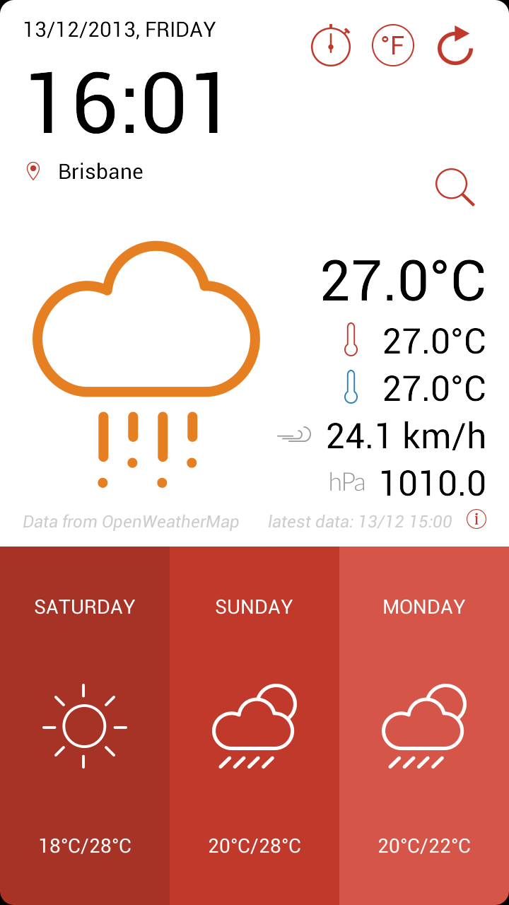 Android Weather Application Template