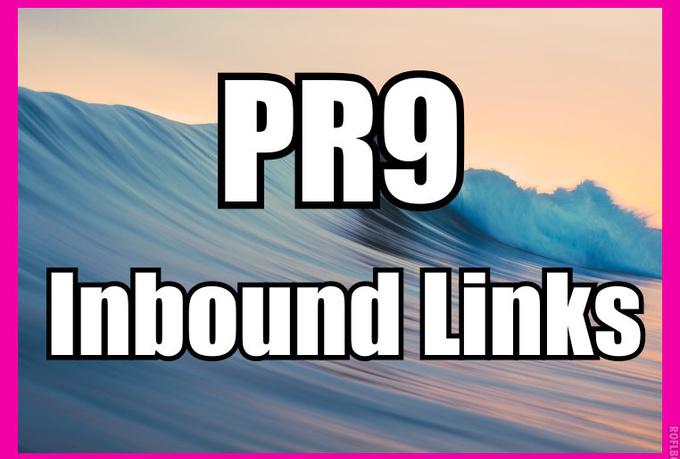 manually create 60 PR9 Inbound links from established...