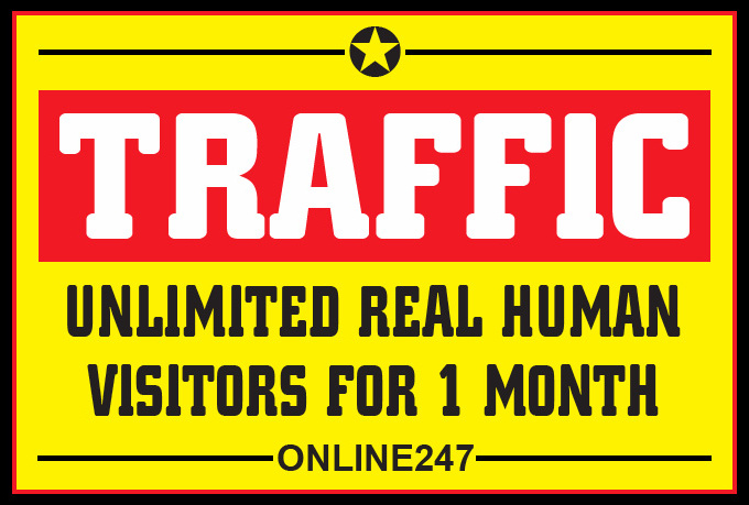 Send  Traffic For 1 Month  To Your Website