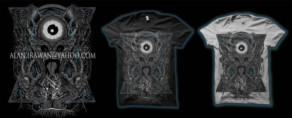 tee design artwork for clothing company