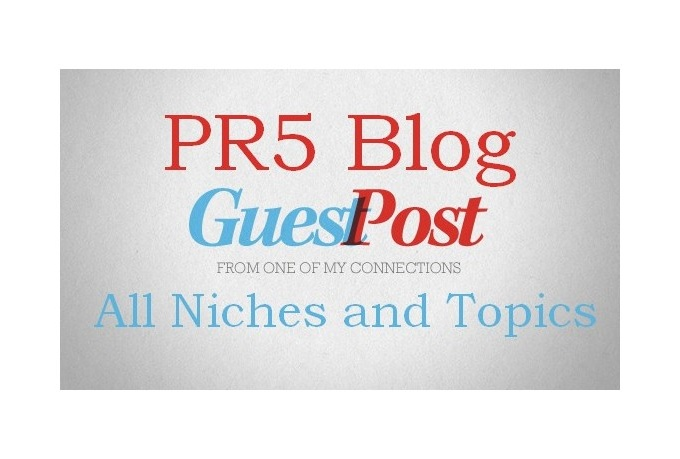 I will guest your Post in my PR5 Blog