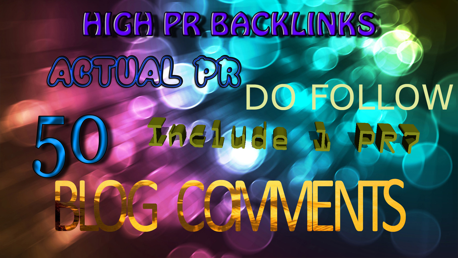 do 50 Blog comments on Long Lasting penguin panda 4.0 safe Actual PR sites with PR2+