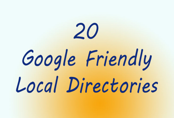 manually submit your business details or website URL to 20 of the best local directories