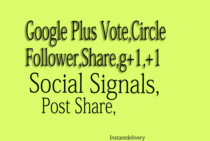 I give you 205 US base Google Plus vote Follow