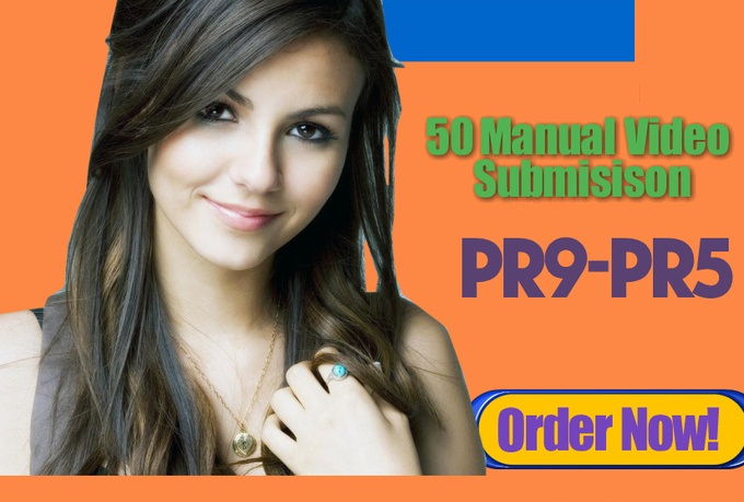 do 50 MANUAL video submission Upto PR9 sites