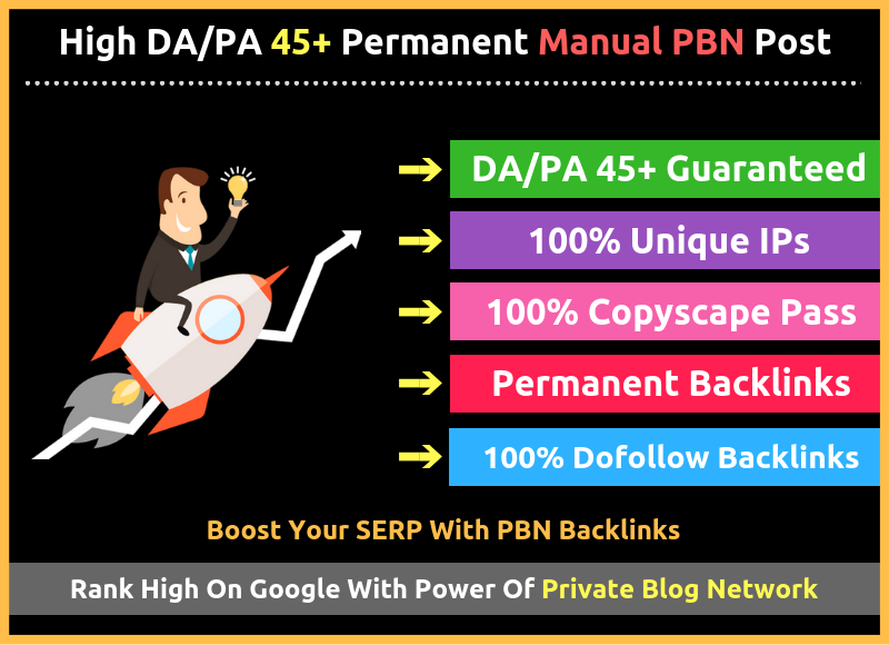 Build 5 Manual PBN DA 30+ Do-follow Backlinks