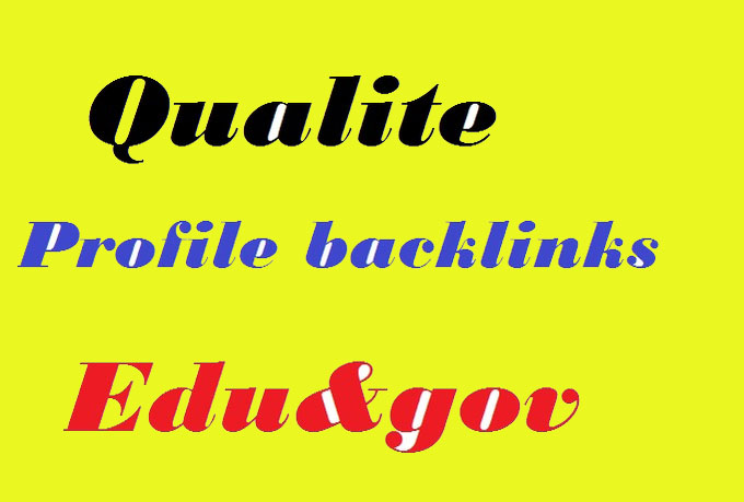 create manually15pr9 to pr7 profile backlink25 pr8to pr4 edu gov dofollow links