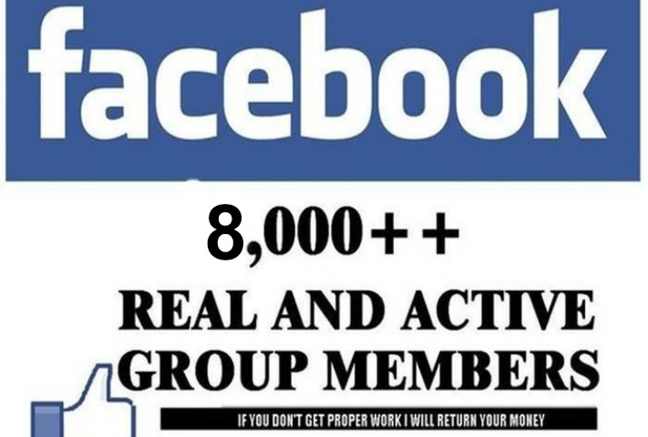 Give you Real and active 8000+ facebook group members for $5