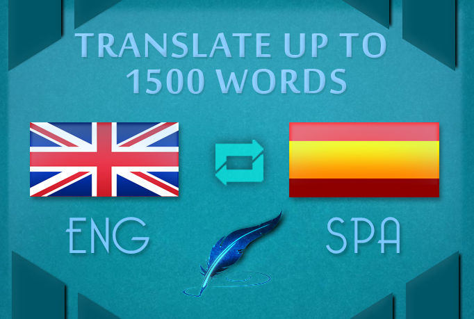 translation up to 1500 words englis to spanish in a day deliver for 5 seoclerks translation up to 1500 words englis to