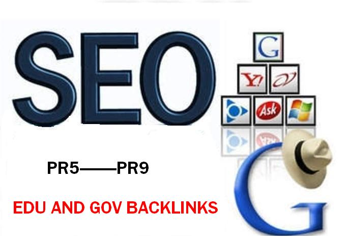 Provide 50+ PR5 to PR9 Permanent Edu and Gov Backlink...