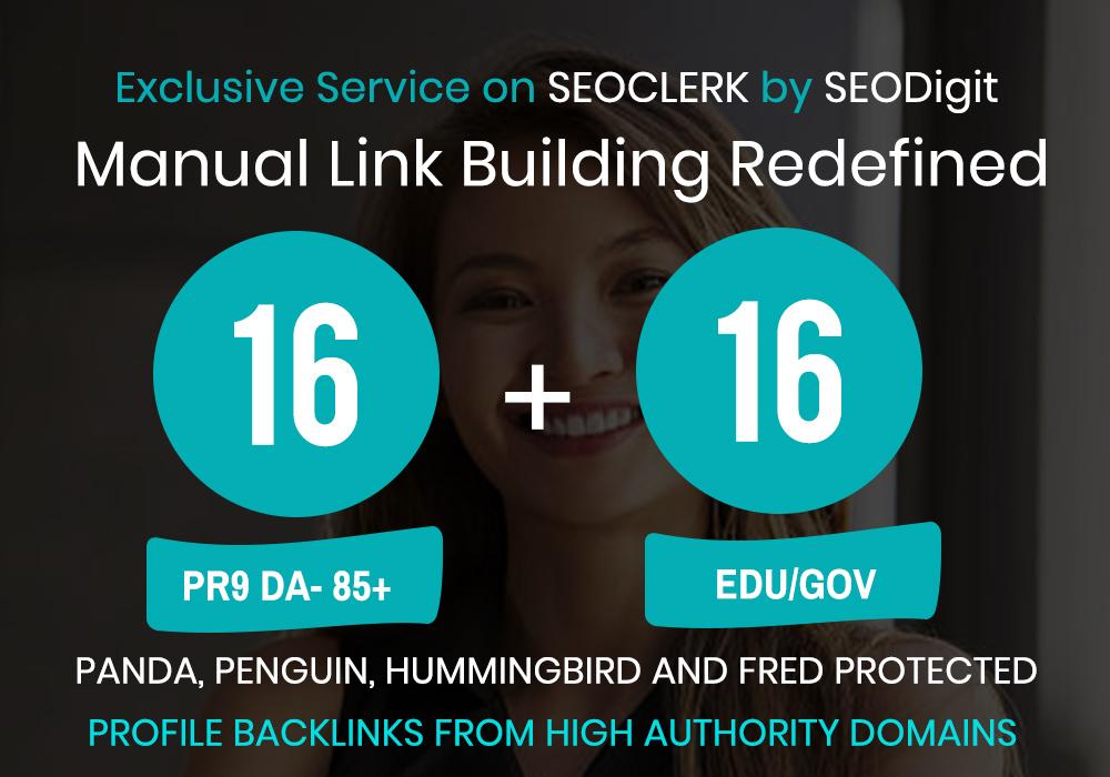 SERPs Booster-16PR9 and 16EDU/GOV profile backlinks i...