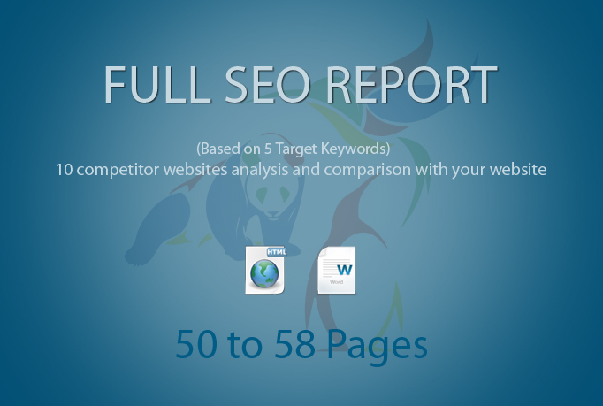 I will provide complete SEO report based on 5 keywords
