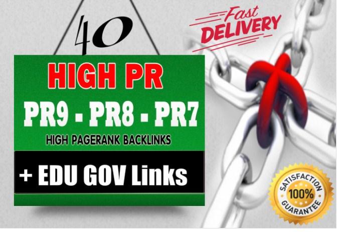 will build 40 high pr authority backlinks