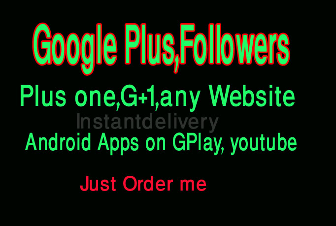 give you 300+ permanent google plus1 follow or vote at your website only