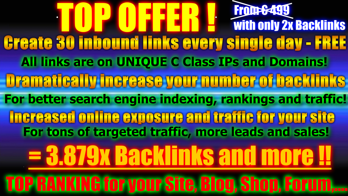 CREATE a 20000+ forum profile backlinks 500+ EDU wiki links of high pr all these links include 2000social book marks and 1500+edu links and 2500+gov links OF high pr(9-1)