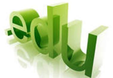 Get You website 250 edu backlinks, edu backlinks are...