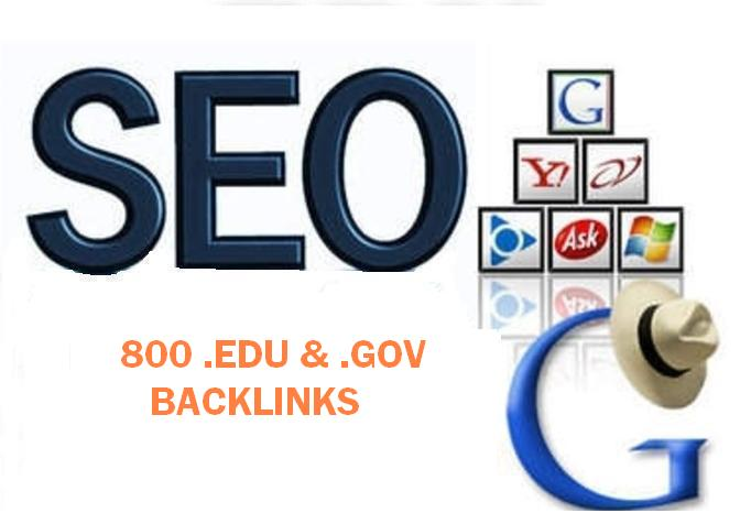 800 Edu and Gov blog backlinks by using Blog comments