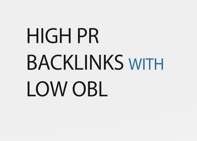High PR do follow backlinks with low OBL