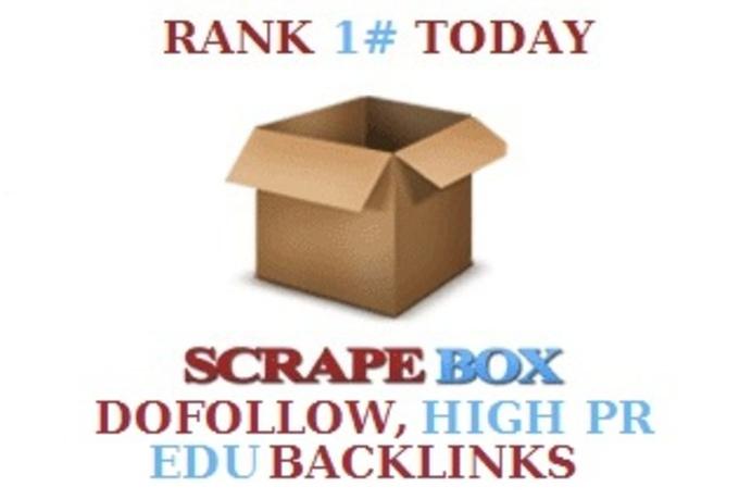 create 1500+ dofollow,  1500+ high PR and 300 edu gov blog comments backlinks using scrapebox.
