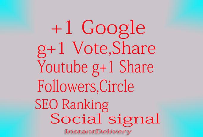 I Give 100+ Google Plus Circle Follow or 30+ Google P...