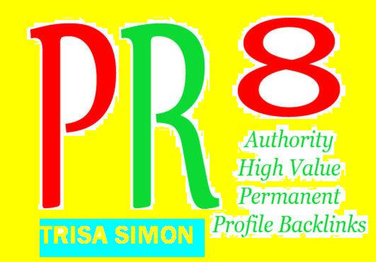 Manually Create 30 PR 6-PR 9 Backlinks from High Authority Sites