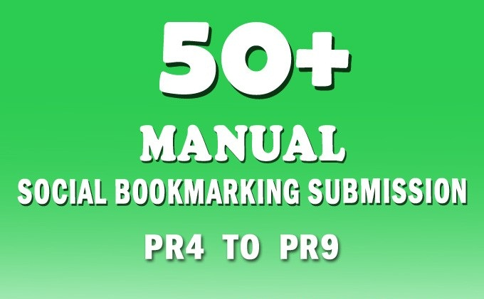 I will submit your websites or blogs or Video Link manually 50+ Social Bookmarking sites PR4 to PR9