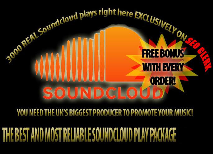 give you 3000 soundcloud plays plus free bonus premium sc seller for