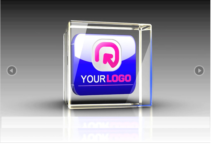 animate your logo from 2d to 3d and SHOWCASE