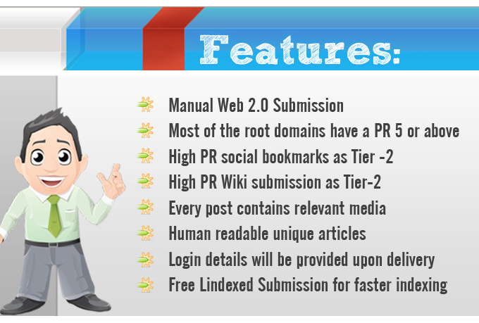 I will provide Manual Web 20 Blog Creation with login detail