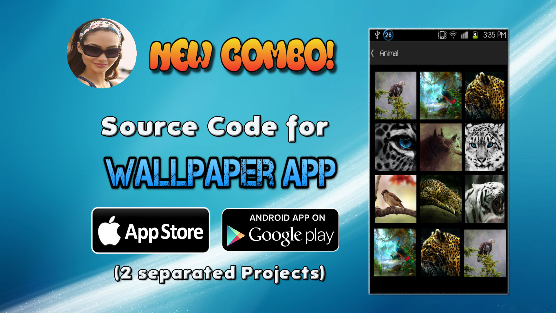 android iphone source code combo for wallpaper app