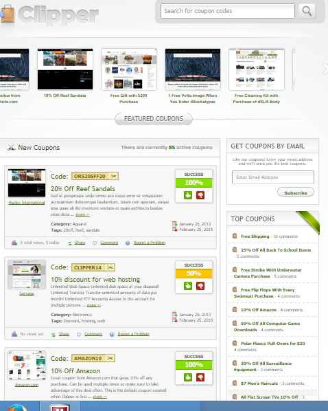 Clipper theme by appthemes | Premium Theme fou coupon website with demo