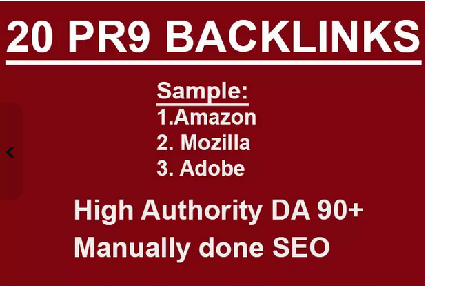 do PR9 SEO backlinks dofollow