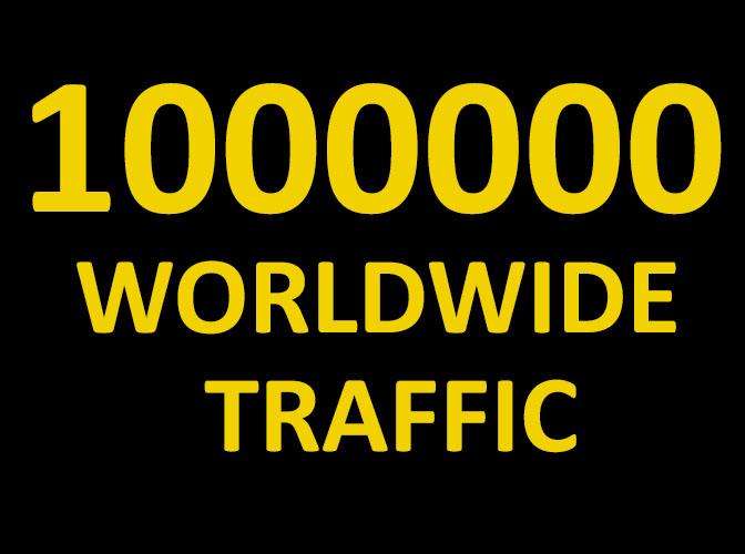 1 Million Real Website Traffic Worldwide