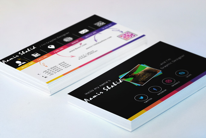 make a professional Business card with mock up