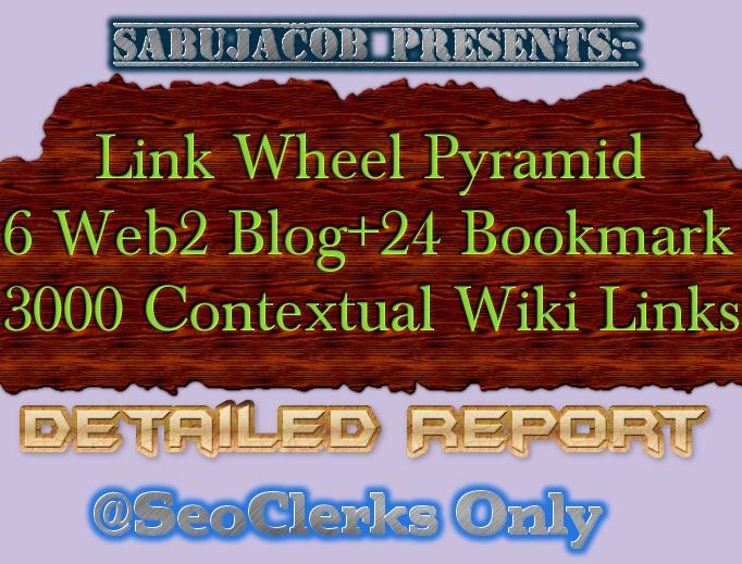 Seo Link wheel Pyramid best for Website Blog YouTube Video