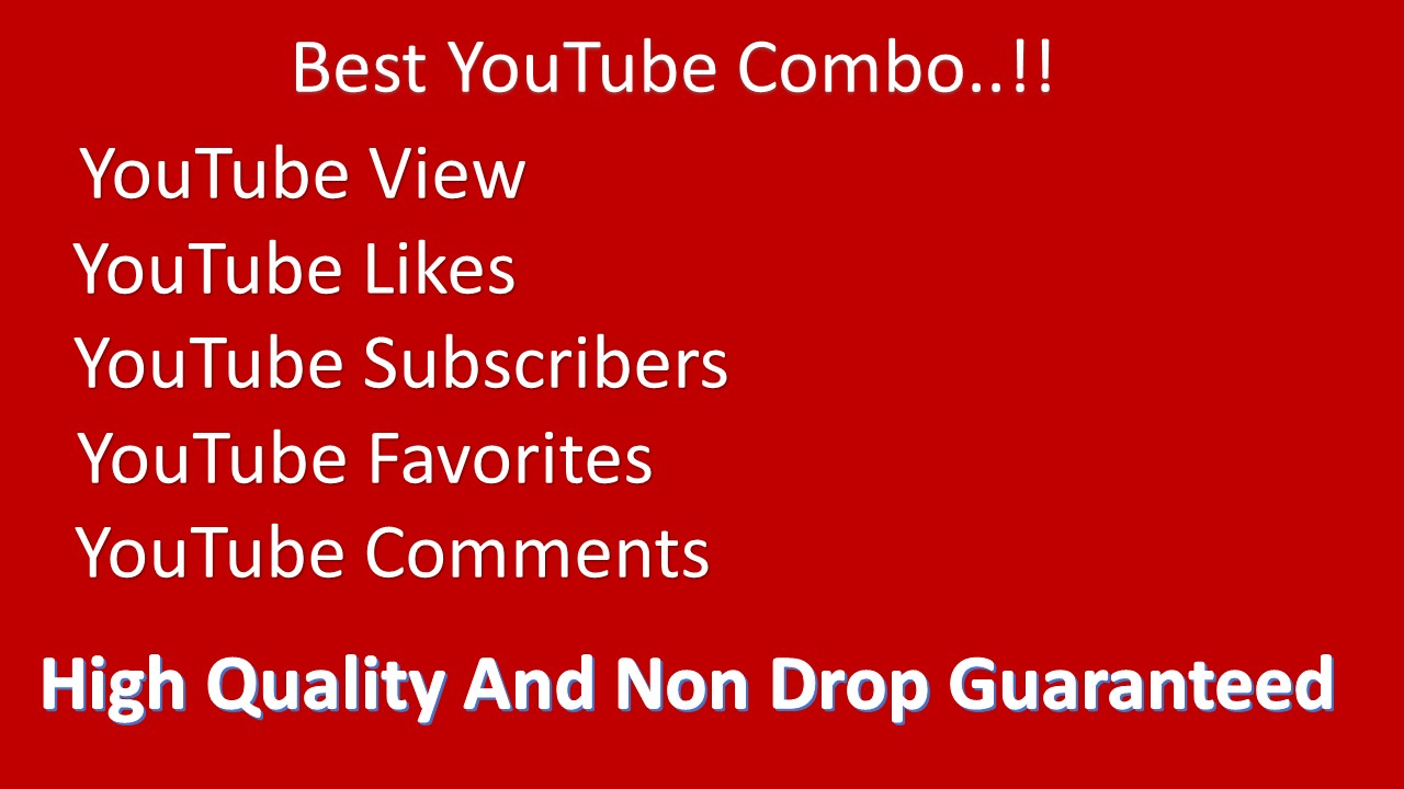 COMBO Organic NON DROP Premium Quality YouTube promotions