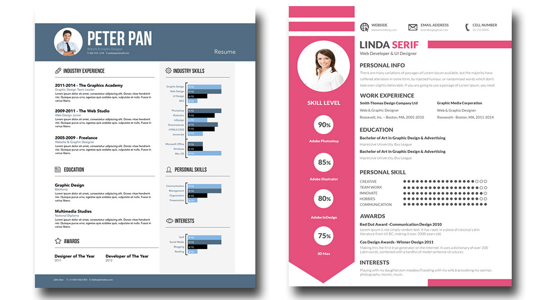 I Will Give 15 Psd Editable Resume Templates For 6