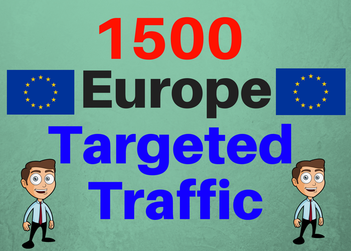 1500 Europe TARGETED Human traffic to your web or blog site. Adsense safe and get Good Alexa rank