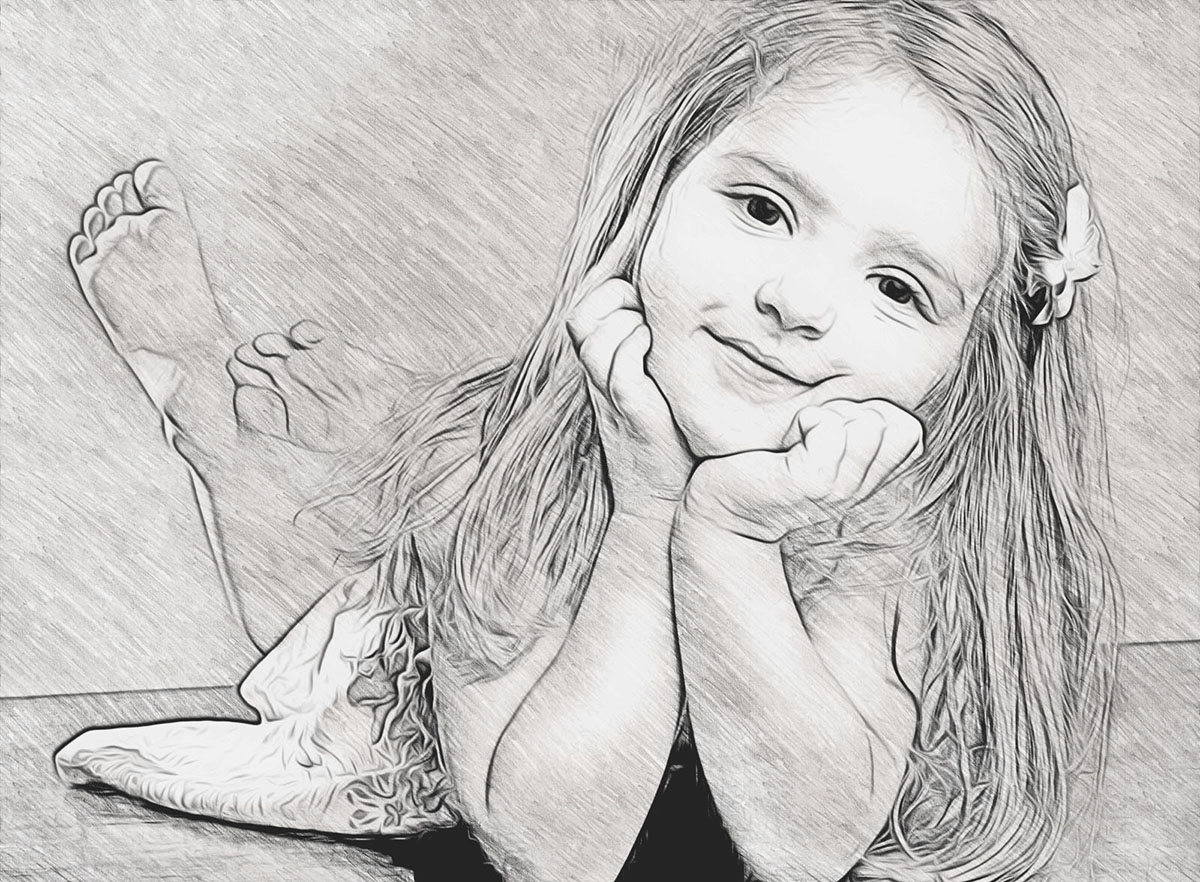 Pencil sketch and drawing effect your photo