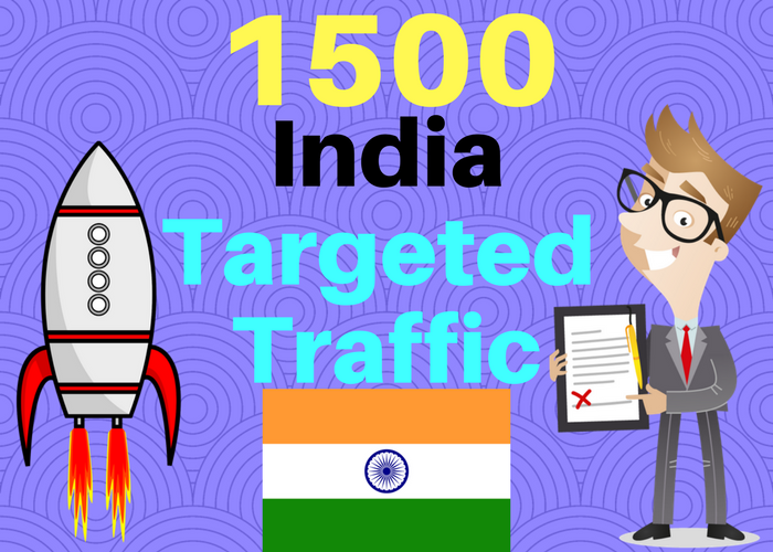 1500 INDIA TARGETED Human traffic to your web or blog site. Get Adsense safe and get Good Alexa rank