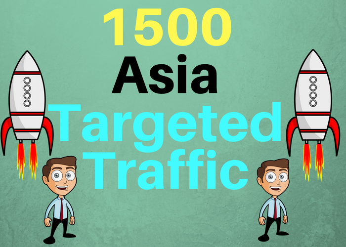 1500 ASIA TARGETED Human traffic to your web or blog site. Adsense safe and get Good Alexa rank