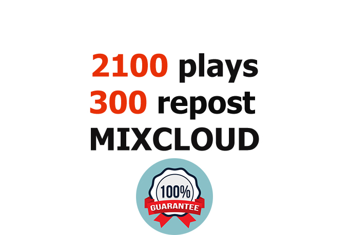 Safely add 2100 REAL Plays and 310 Repost to your Mix...