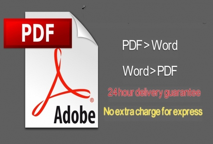 I will convert 10 files PDF to Word or WordtoPDF in 24 hours