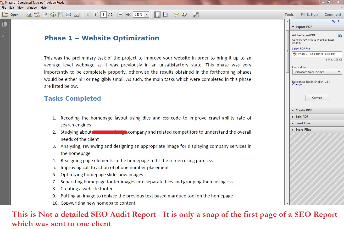 I will conduct a SEO Audit for your website