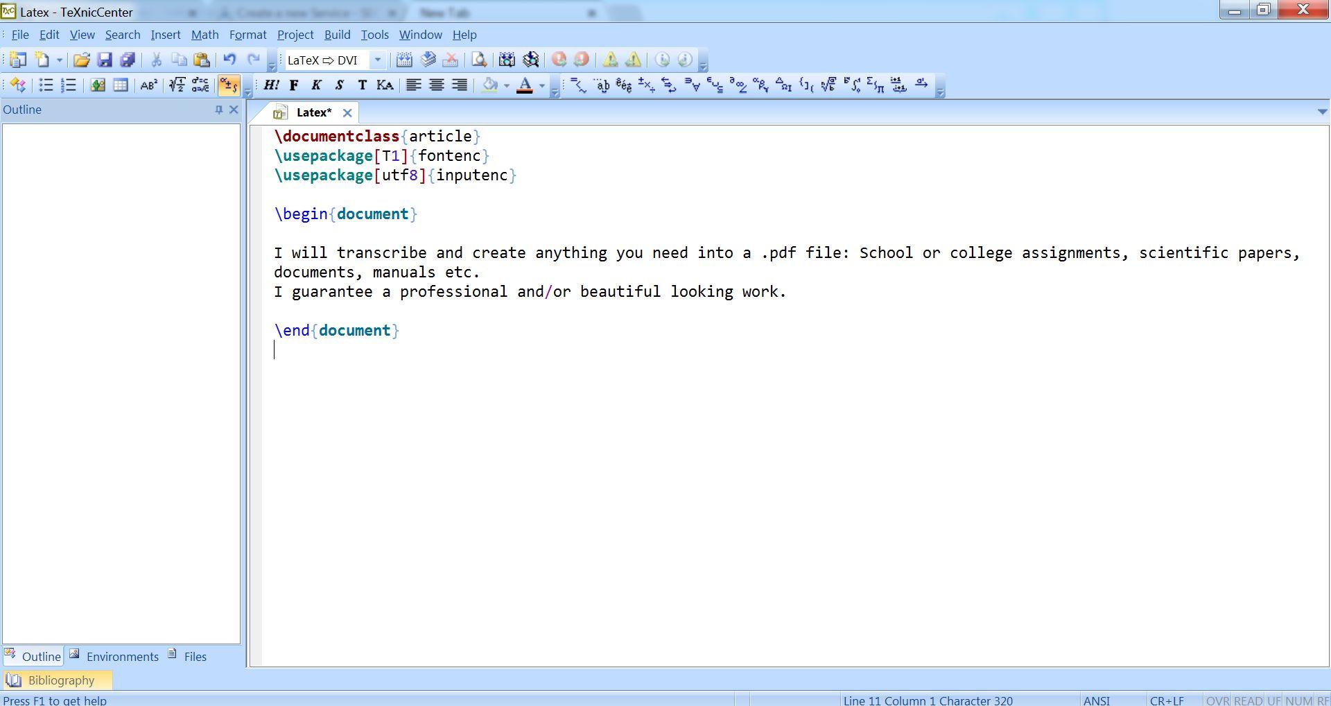 Transcribe,convert and create .pdf files using LaTeX
