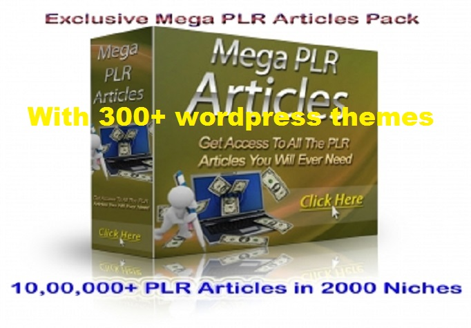 give you 1,000,000+ PLR Articles in 2000+ Niches with wordpress ...