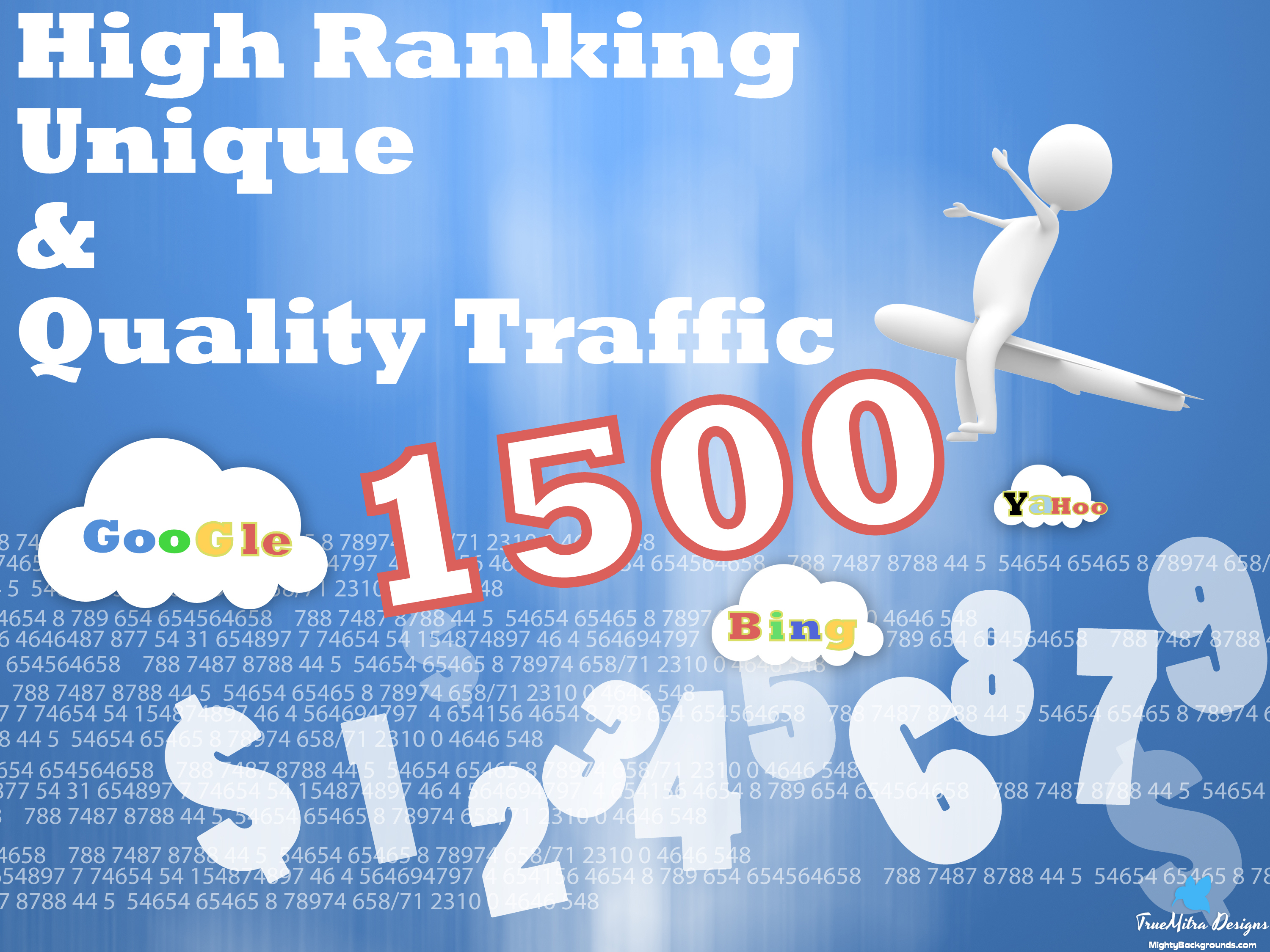 Send unlimited daily visitors For one Month to your website