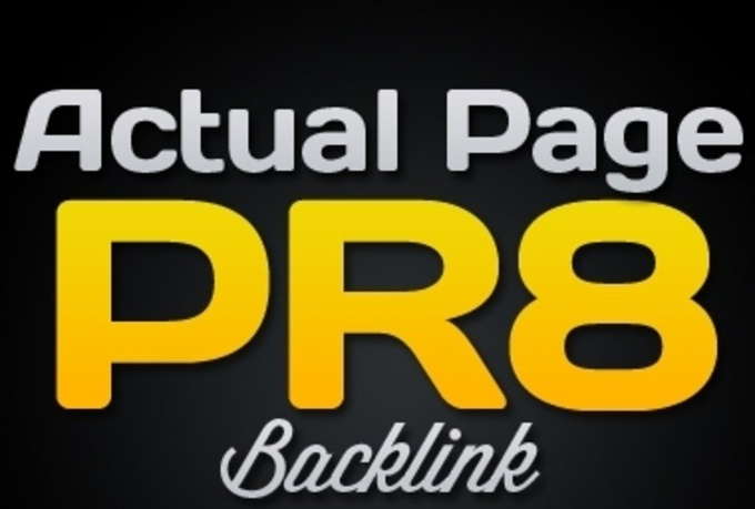 10 Permanent pr8 + 10 pr7 dofollow backlinks
