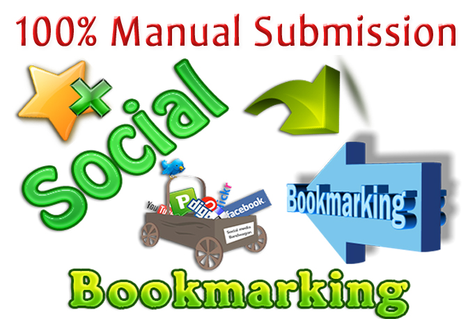 I will manually submit your sites or blogs 100 plus social bookmarks