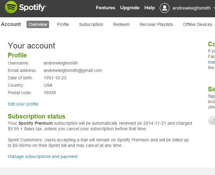Premium spotify account for $5 - SEOClerks